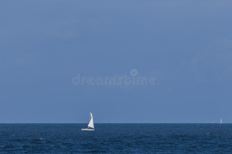 Sailboat at the sea royalty free stock photo