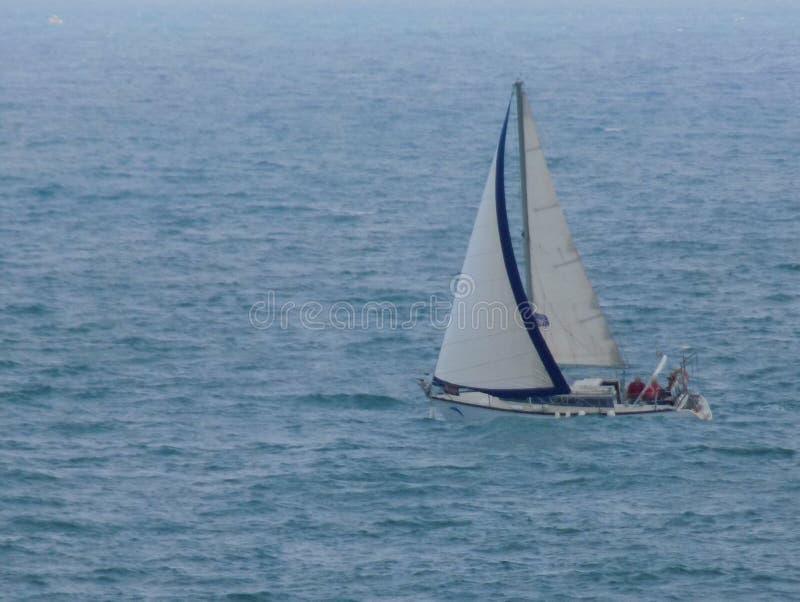 Sailboat on seas
