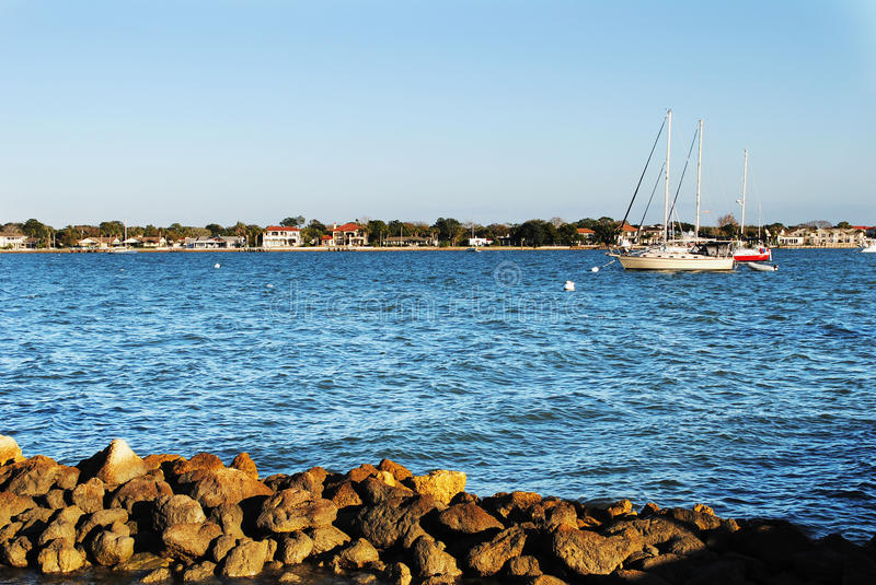 Download Sailboat at St Augustine stock image. Image of river - 23101189