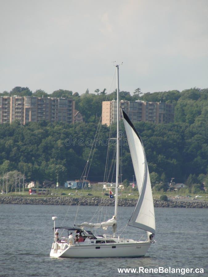 Sailboat On The St. Lawrence River / Voilier Sur Le St-laurent Free Public Domain Cc0 Image