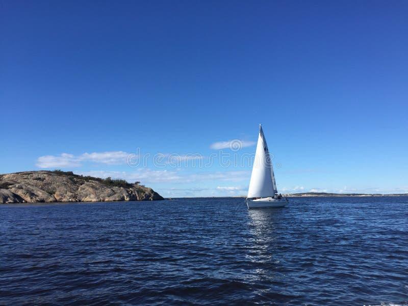 Sailboat Sunny day autumn gorgeous stock photography