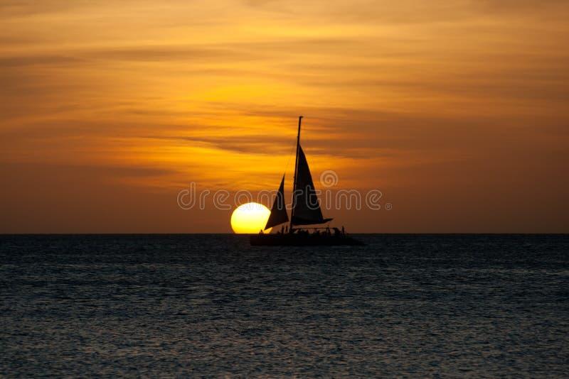 Sailboat at sunset