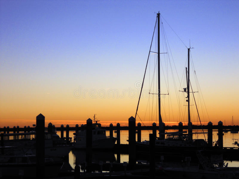 Sailboat Sunset on the Pacific royalty free stock images