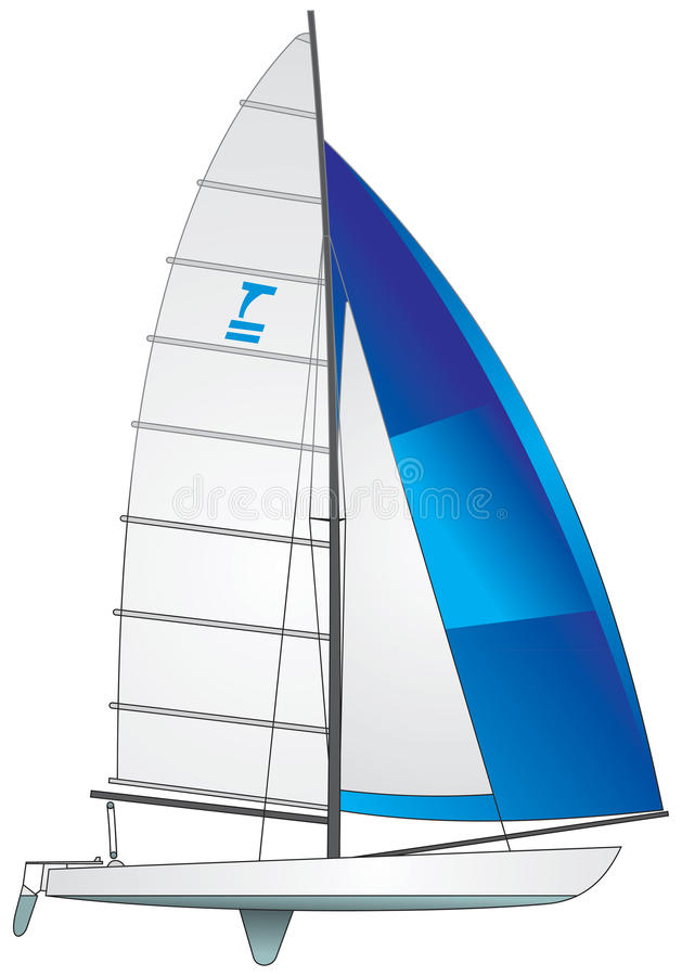 Download Sailboat Tornado class stock vector. Image of game, competition - 23372325