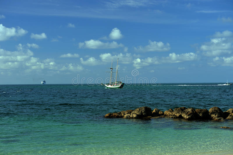 Download Sailboat At Tropical Waters Of Key West Stock Image - Image: 36484863