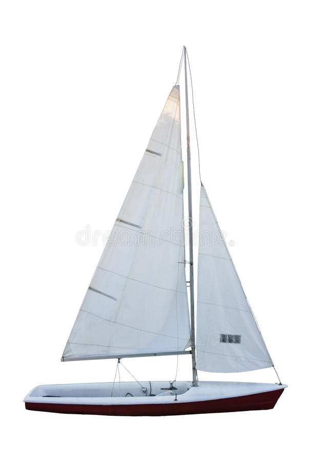 Sailboat under the white background royalty free stock image