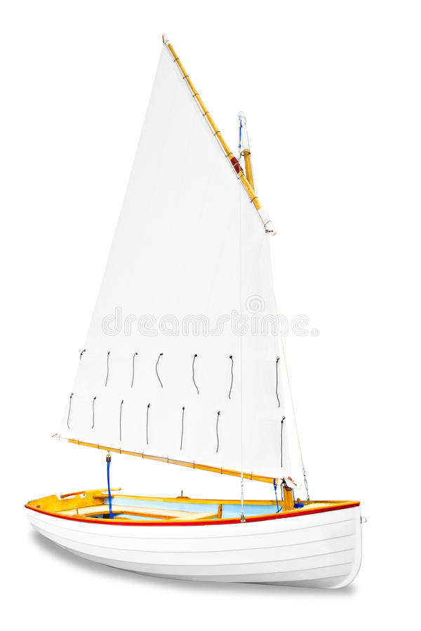Sailboat under the white background royalty free stock images