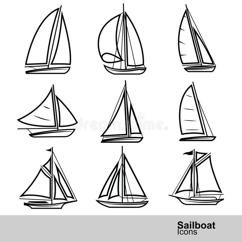Sailboat vector stock illustration