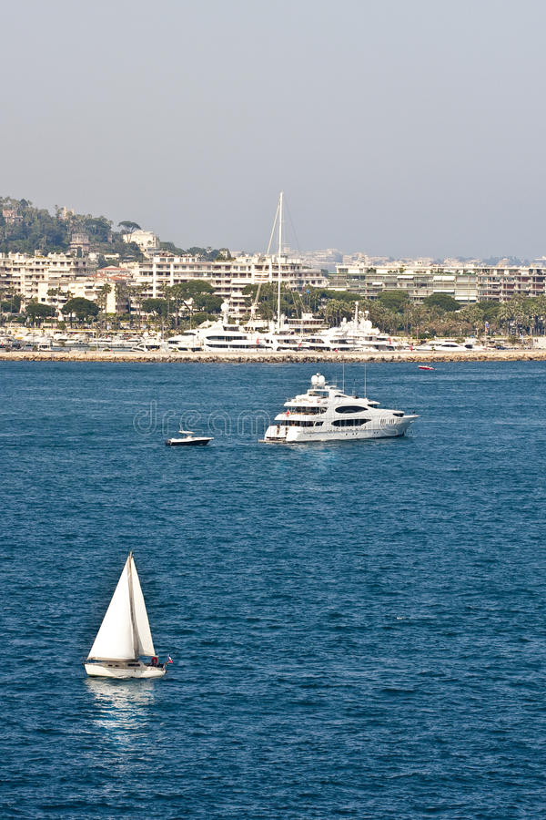 Download Sailboat And Yacht At Cannes Stock Photo - Image of boating, sailing: 11040732