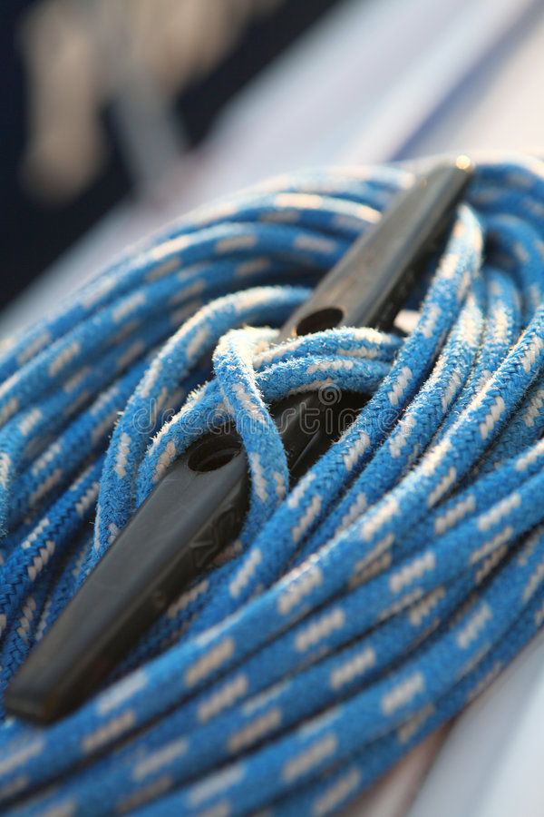 Sailboater S Equipment On Yacht Royalty Free Stock Photos
