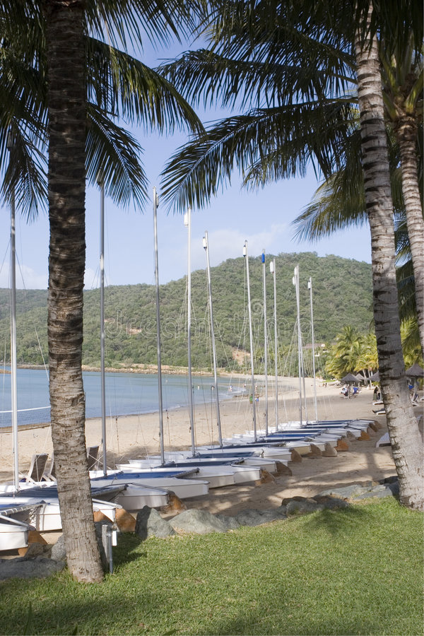 sailboats γραμμών νησιών του Χάμιλτ&omicr στοκ φωτογραφία με δικαίωμα ελεύθερης χρήσης