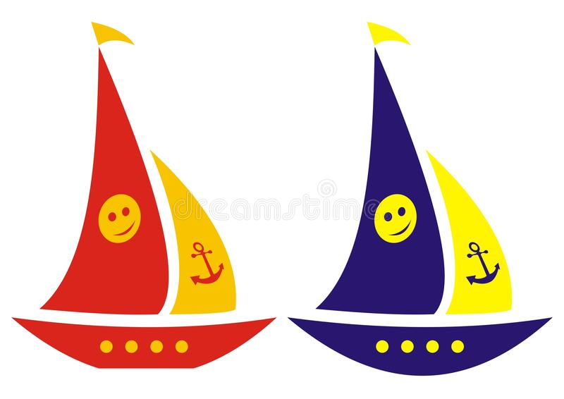 sailboats illustration stock