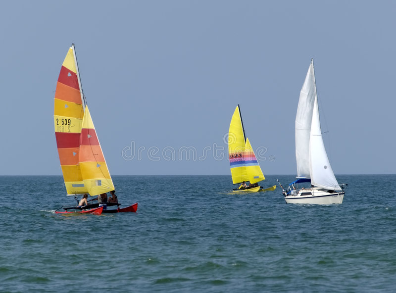Sailboats imagens de stock royalty free