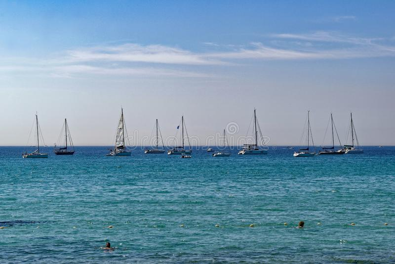 Summertime in the south of France stock photography