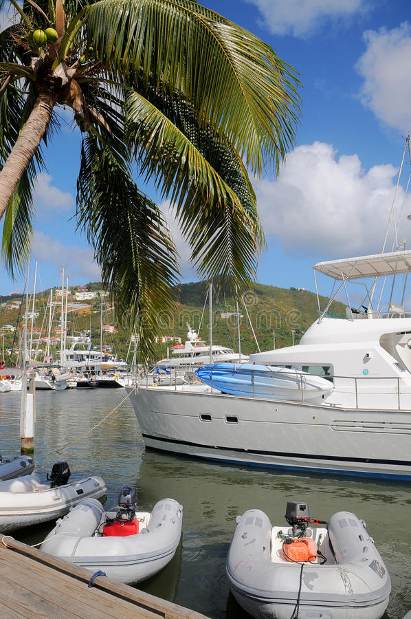 Free Sailboats And Yacht Docked Stock Image - 28050411