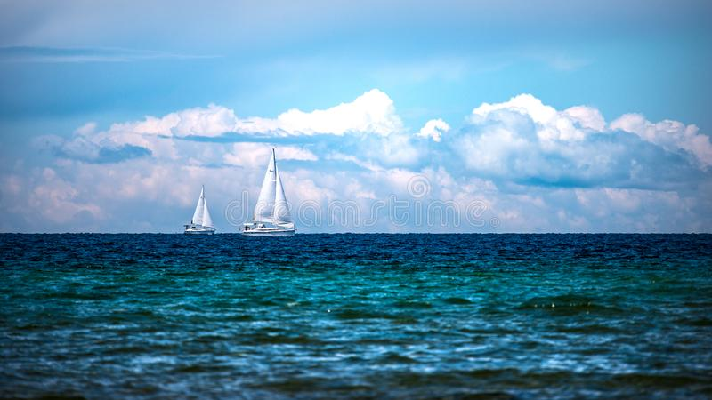 Sailboats On The Bay royalty free stock images
