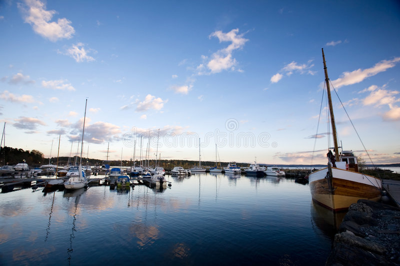 Sailboats in the Evening stock photo