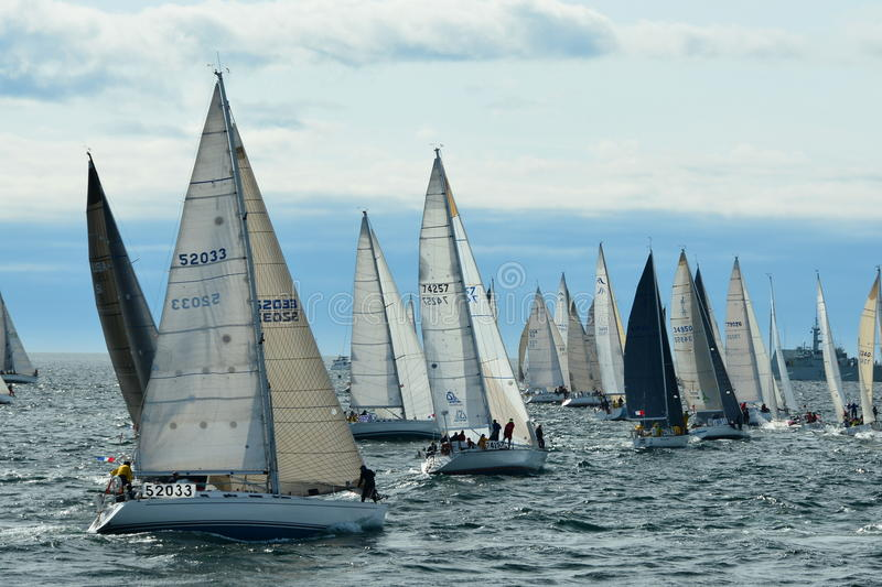Download Sailboats Getting Ready For The Start Of The Race. Editorial Stock Photo - Image of sailboats, annual: 41746433