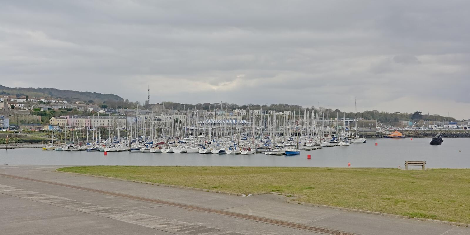 Yachts in the harbor of Howth, Ireland royalty free stock photography
