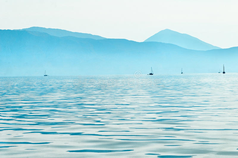 Download Sailboats in Ionian sea stock image. Image of yacht, haze - 29301335