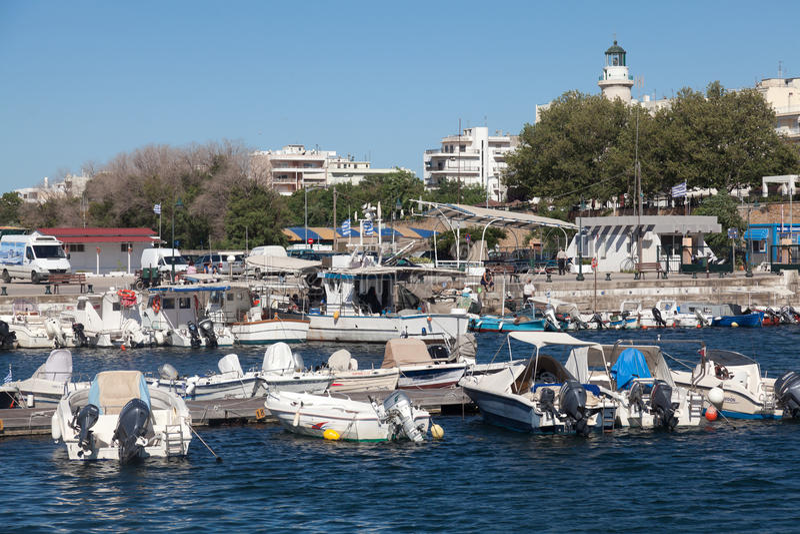 Sailboats At Marina Dock Of Alexandroupolis Editorial Photo