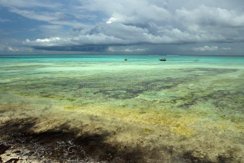 Sailboats no Oceano Índico imagem de stock