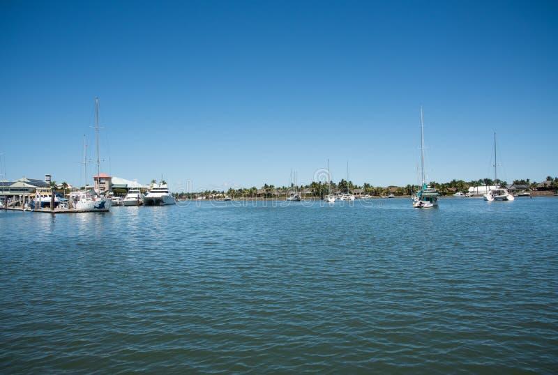 Sailboats in Port Denarau Harbour stock photography