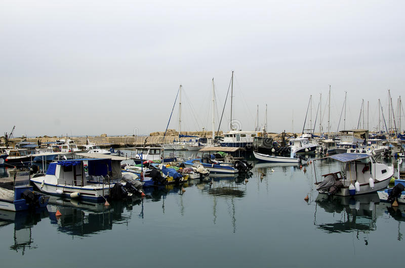 Download Sailboats In The Port Of Old Jaffa. Tel-Aviv Stock Image - Image: 36046125