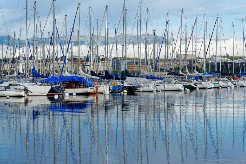 The sailboats royalty free stock photography
