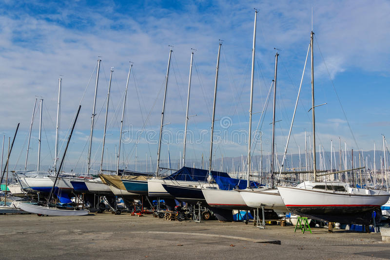 The sailboats royalty free stock images