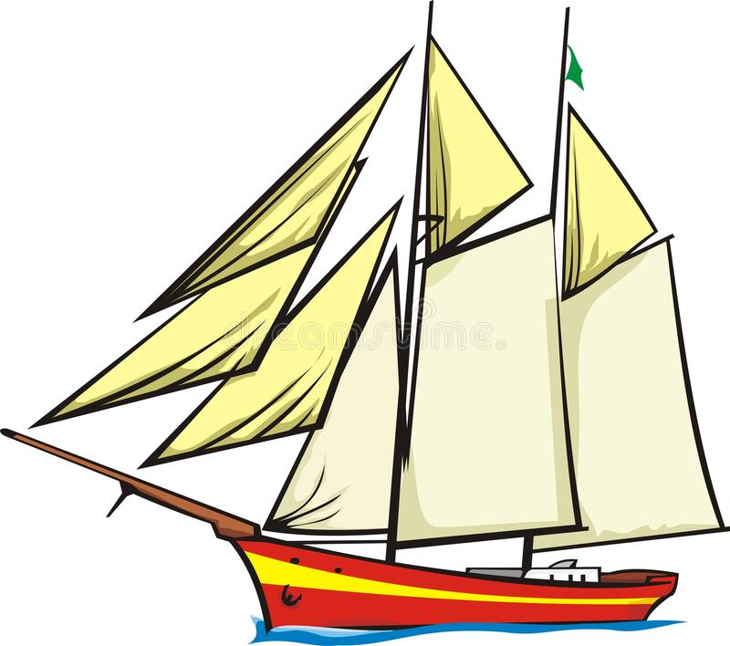 Sailer vector illustratie