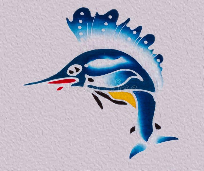 Sailfishkonst stock illustrationer