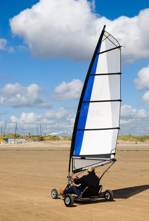 sailing земли пляжа стоковое фото rf