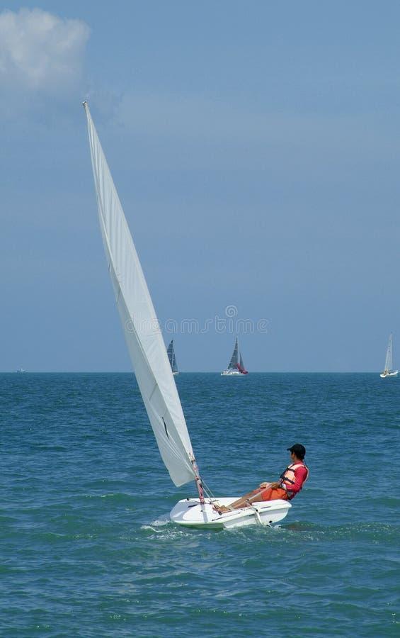 sailing лазера dinghy стоковое фото