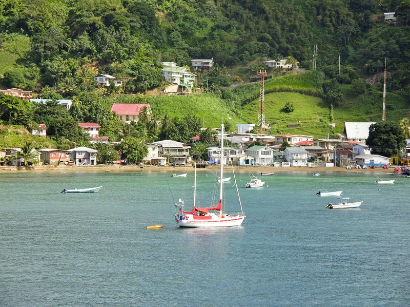 sailing Тобаго острова стоковая фотография