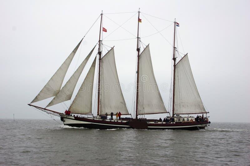 sailing шлюпки классицистический голландский старый стоковое изображение rf