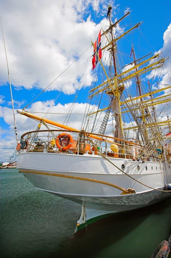 sailing шлюпки старый высокорослый стоковое изображение