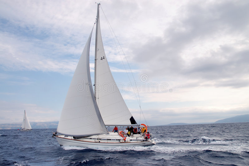 Download Sailing στοκ εικόνες. εικόνα από κροατία, βακκινίων, βαθιά - 1544732