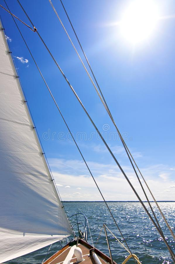 Sailing. In June on a Sunday Afternoon in the sun royalty free stock images