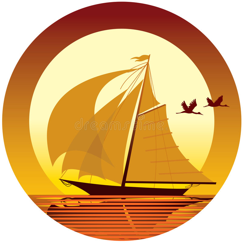 Sailing vector illustration