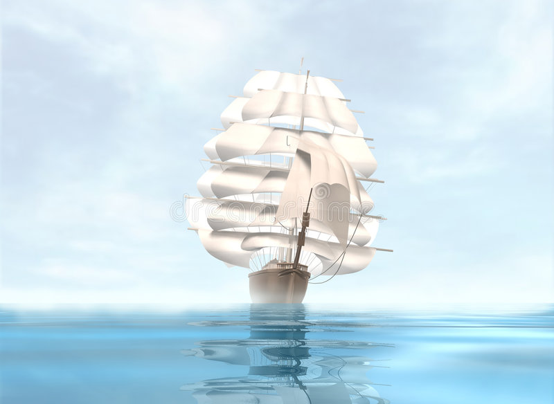sailing иллюстрация штока