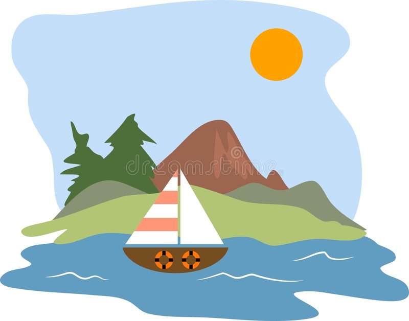 Download Sailing stock vector. Image of nature, coastlines, sailboat - 48307