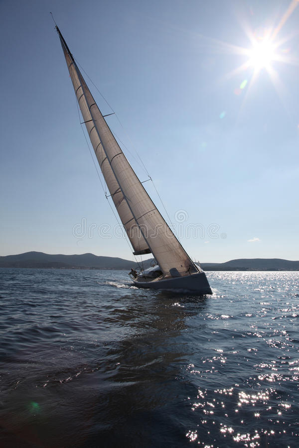 Sailing on the Adriatic Sea royalty free stock images