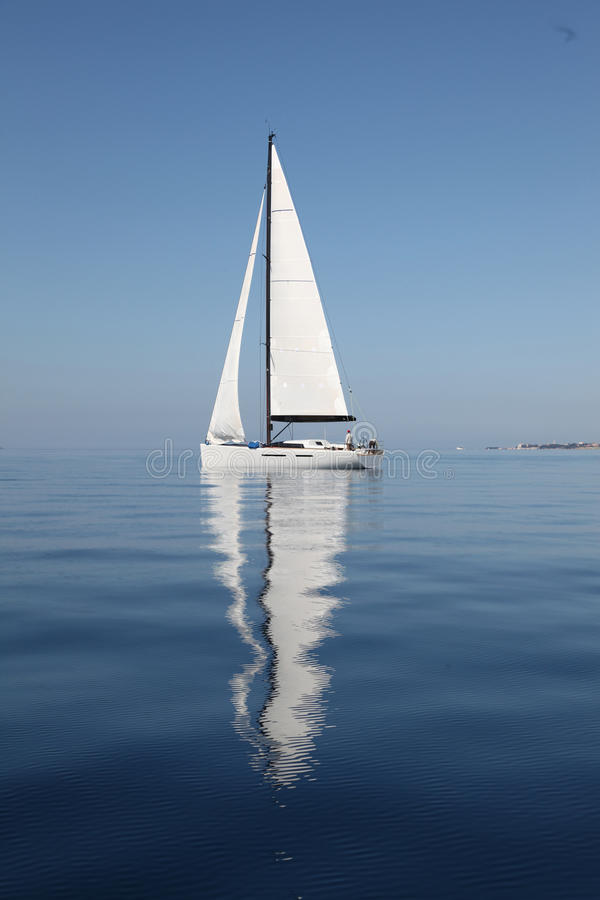 Sailing on the Adriatic Sea royalty free stock photography