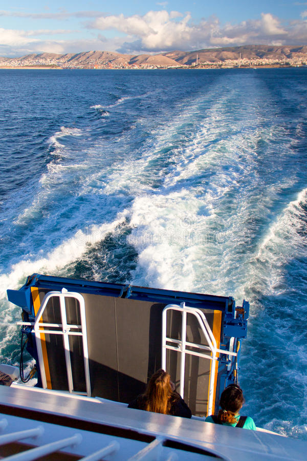 The sailing on the Aegean sea royalty free stock photos