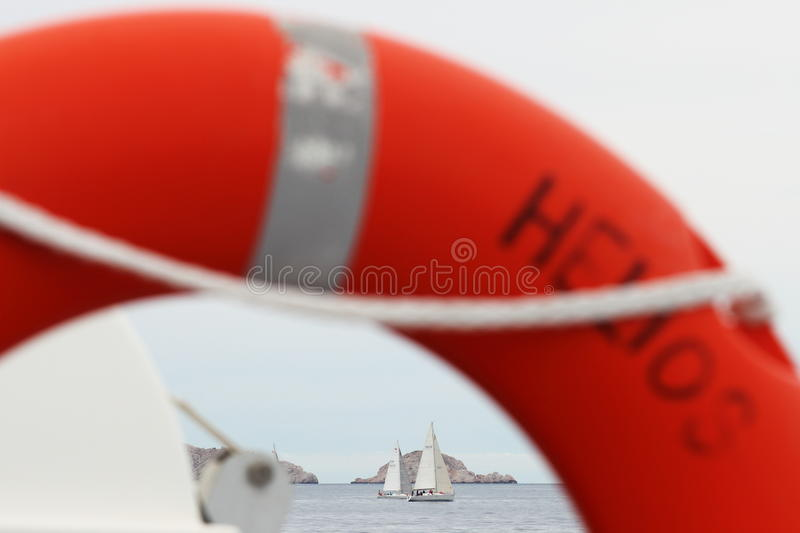 Sailing along the calanques of Marseille, France stock photography