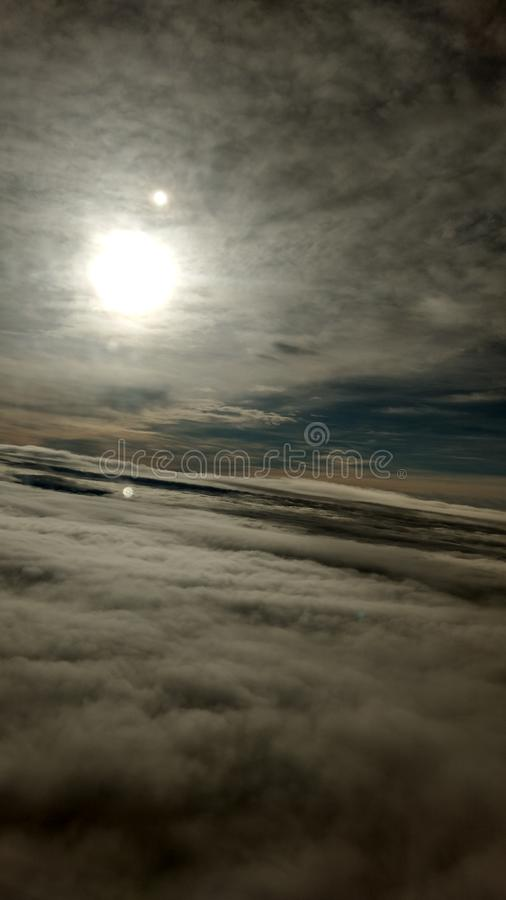 Sailing amongst the clouds royalty free stock photo