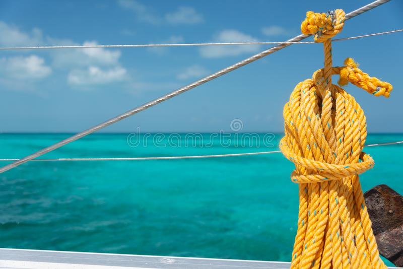 Sailing around Isla Mujeres in Mexico royalty free stock images