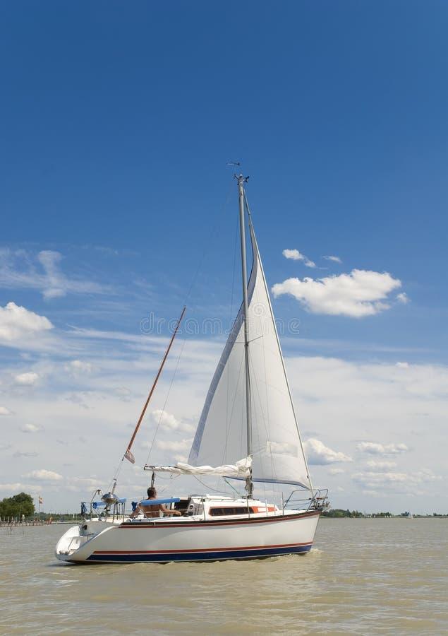 Sailing away royalty free stock photography
