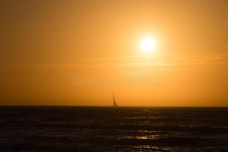 Sailing away royalty free stock images